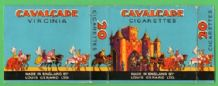 Collectible old English cigarette packet Cavalcade by Gerard